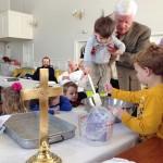 Making communion cornbread